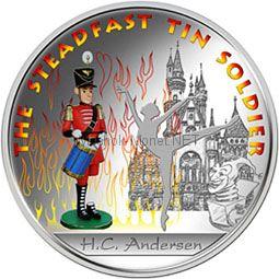 1 доллар 2010 Фиджи Сказки Андерсена. Оловянный солдатик серебро (уценка)