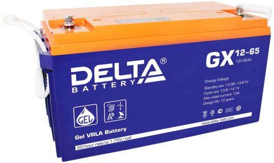 Аккумулятор свинцово-кислотный АКБ DELTA (Дельта) GX 12-65 12 Вольт 65 Ач (Gel)