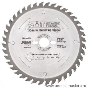 CMT 285.040.10M Диск пильный 250X30X3,2/2,2 15гр 10гр ATB Z=40