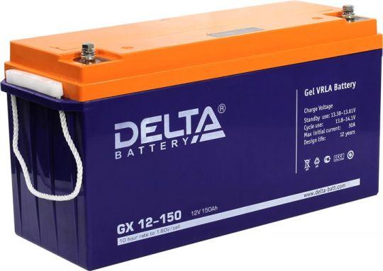 Аккумулятор свинцово-кислотный АКБ DELTA (Дельта) GX 12-150 12 Вольт 150 Ач (Gel)