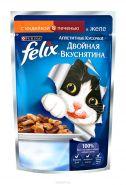 Felix  Двойная вкуснятина Индейка и печень в желе (85 г)