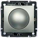 Светорегулятор поворотный 400Вт Legrand Valena (Алюминий)