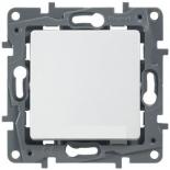 Выключатель одноклавишный, 10A Legrand Etika (Белый)