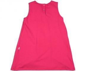 Розовое трикотажное платье для девочки 0820