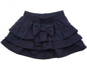 Темно-синяя юбка для девочки с воланами