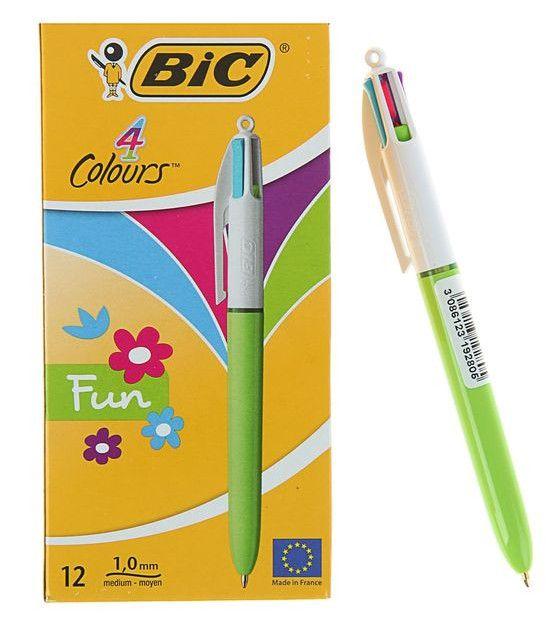 Четырехцветная шариковая ручка Цветочек