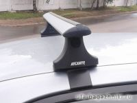 Багажник на крышу Renault Fluence, Атлант, крыловидные аэродуги