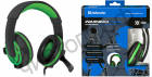 Гарнитура (науш.+микр.) DEFENDER Warhead G-300 зеленый, кабель 2,5 м игровая