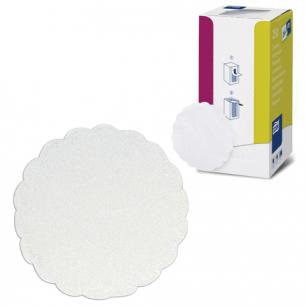 Подставки под чашку (коастер)  бумажные TORK, КОМПЛЕКТ 250шт, белые, 8сл, диам.9см, АРТ.E02109V, 474474