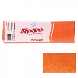 "Салфетки ""Перышко"" Big Pack, 24х24, 400шт., оранжевые интенсив, 125257, ш/к 82288"