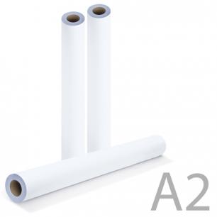 Рулон д/плоттера 420мм*175м*вт.76мм, 80г/м2, белизна CIE 146%, диам.170мм, BRAUBERG 110453