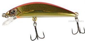Воблер Jackall Tricoroll 55S 55 мм / 3,5 гр / тонущий / цвет: haku red & gold