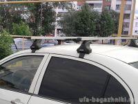 Багажник на крышу Renault Fluence, Атлант, прямоугольные дуги, опора Е