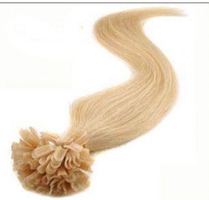 Натуральные волосы на кератиновой капсуле U-тип, №024 Пепельный блонд - 55 см, 100 капсул.
