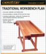 План - схема с чертежами классического столярного верстака Traditional workbench Veritas  05L01.02 М00004899