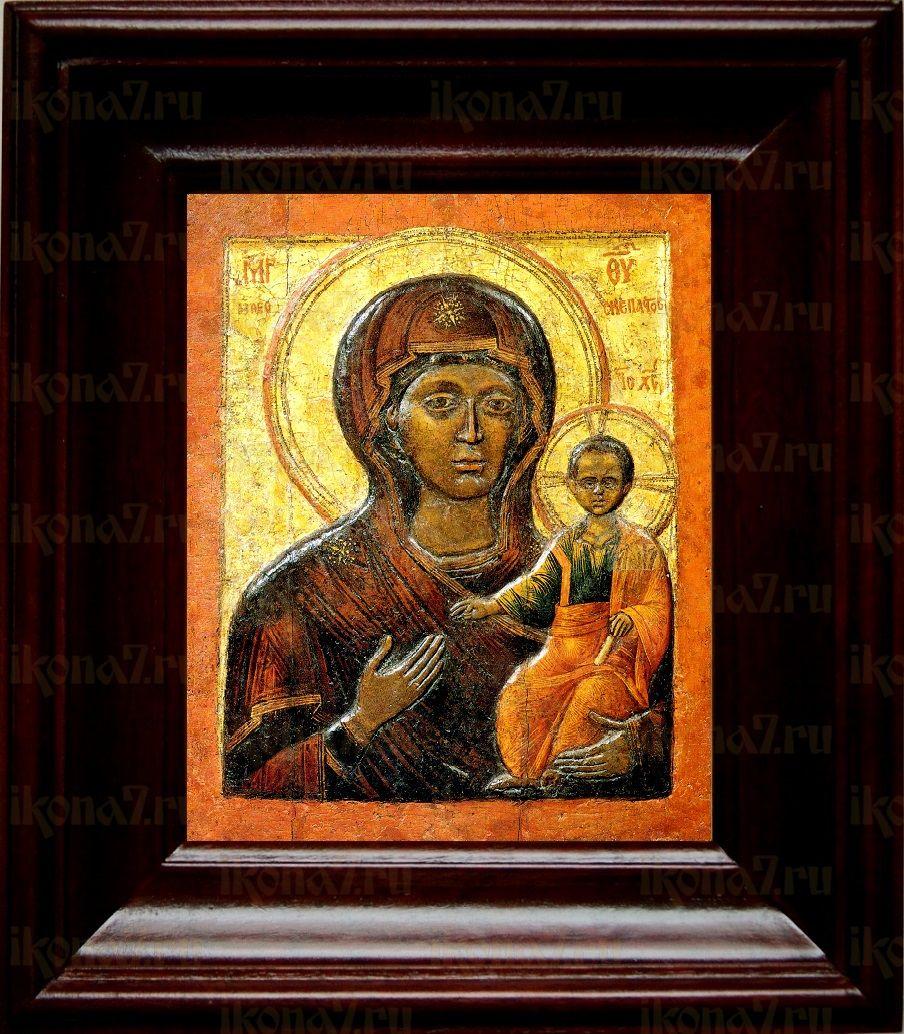 Влахернская икона БМ (21х24), простой киот