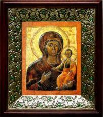 Влахернская икона БМ (21х24), киот со стразами