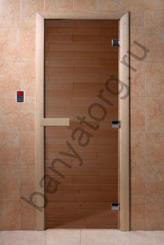 Дверь для бани DoorWood Бронза