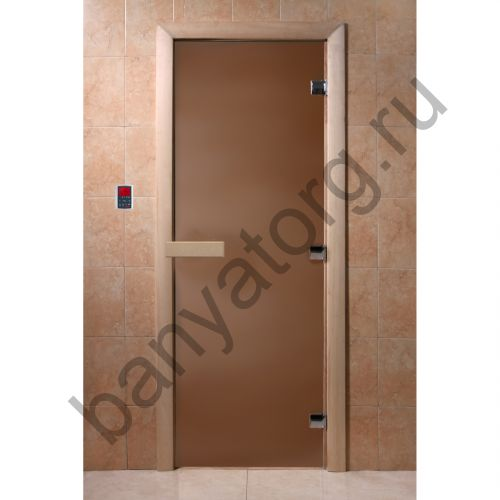 Дверь для бани DoorWood Бронза матовая