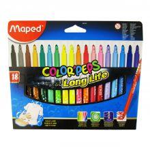 Фломастеры 18цв.Maped Colorpeps 845020