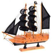 Корабль, L23,5 W5 H23,5 см (с пиратскими парусами) (арт. 672987) (12664)