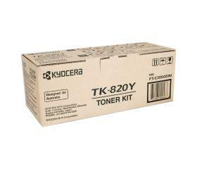 TK-820Y  Тонер-картридж оригинальный  Kyocera 7000 стр. Yellow