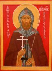 Икона Александр Пересвет (рукописная)