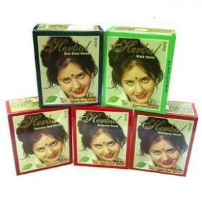 Индийская хна Herbul для окраски волос,ресниц и бровей, 60г(6 пакетиков)