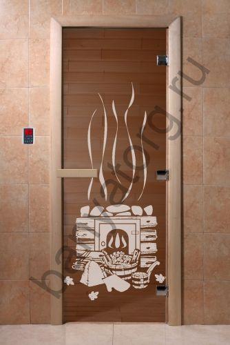 Дверь для бани DoorWood Банька Бронза