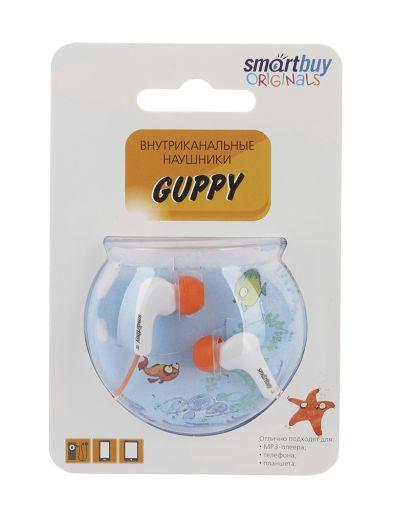 Наушники проводные пассивные SmartBuy GUPPY, оранжевые