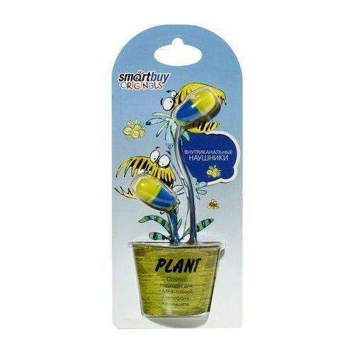 Наушники проводные пассивные SmartBuy® PLANT, желтые/голубые