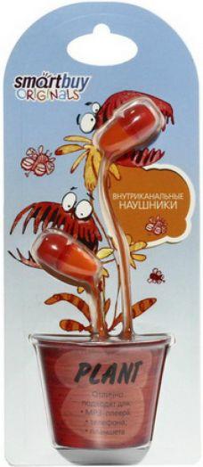Наушники проводные пассивные SmartBuy® PLANT, красные/оранжевые