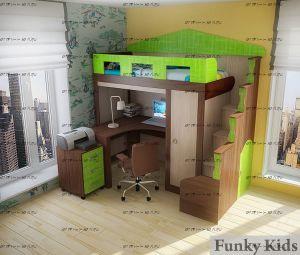 Кровать-чердак Фанки Хоум-11004.2