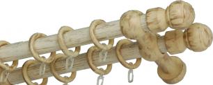 """Карниз деревянный двухрядный ДК """"Идея"""" белое золото"""