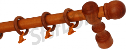 Карниз деревянный ДК 11 вишня