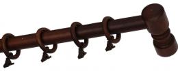 Карниз деревянный ДК 14 мокко