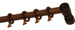 Карниз деревянный ДК 14 дуб рустик