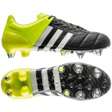 Бутсы adidas Ace 15.1 Leather SG чёрные