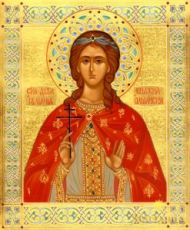 Иулиания Ольшанская (рукописная икона)
