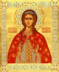 Икона Иулиания Ольшанская (рукописная)