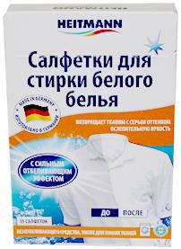 Heitmann Салфетки для стирки белого белья без отбеливателя и для тонких тканей 15 шт.