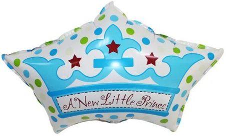 Корона Принца фольгированный шар с гелием