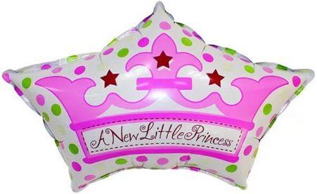 Корона принцессы фольгированный шар с гелием