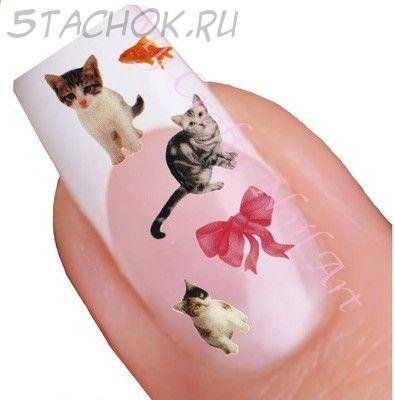 """Наклейки на ногти """"Котики"""""""