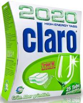 CLARO Энергетические таблетки «2020» для мытья посуды в ПММ, 30 шт+6 подарок