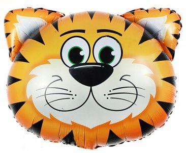 Тигр фольгированный шар с гелием
