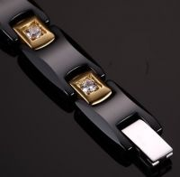 Магнитный браслет из черной керамики