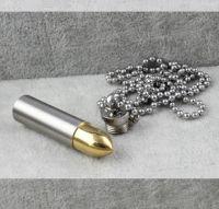 Кулон-пуля стальной