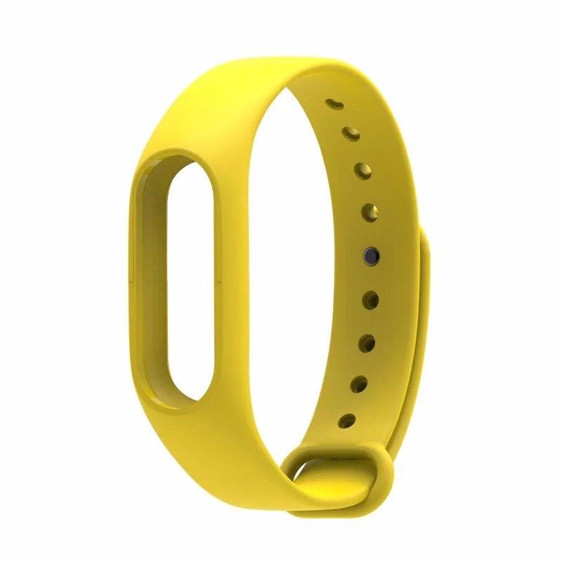 Сменный ремешок для фитнес-браслета  Xiaomi Mi Band 2 (Желтый)