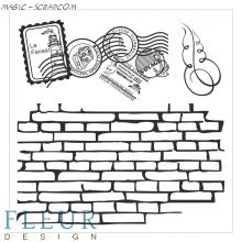Набор штампов Стена с марками
